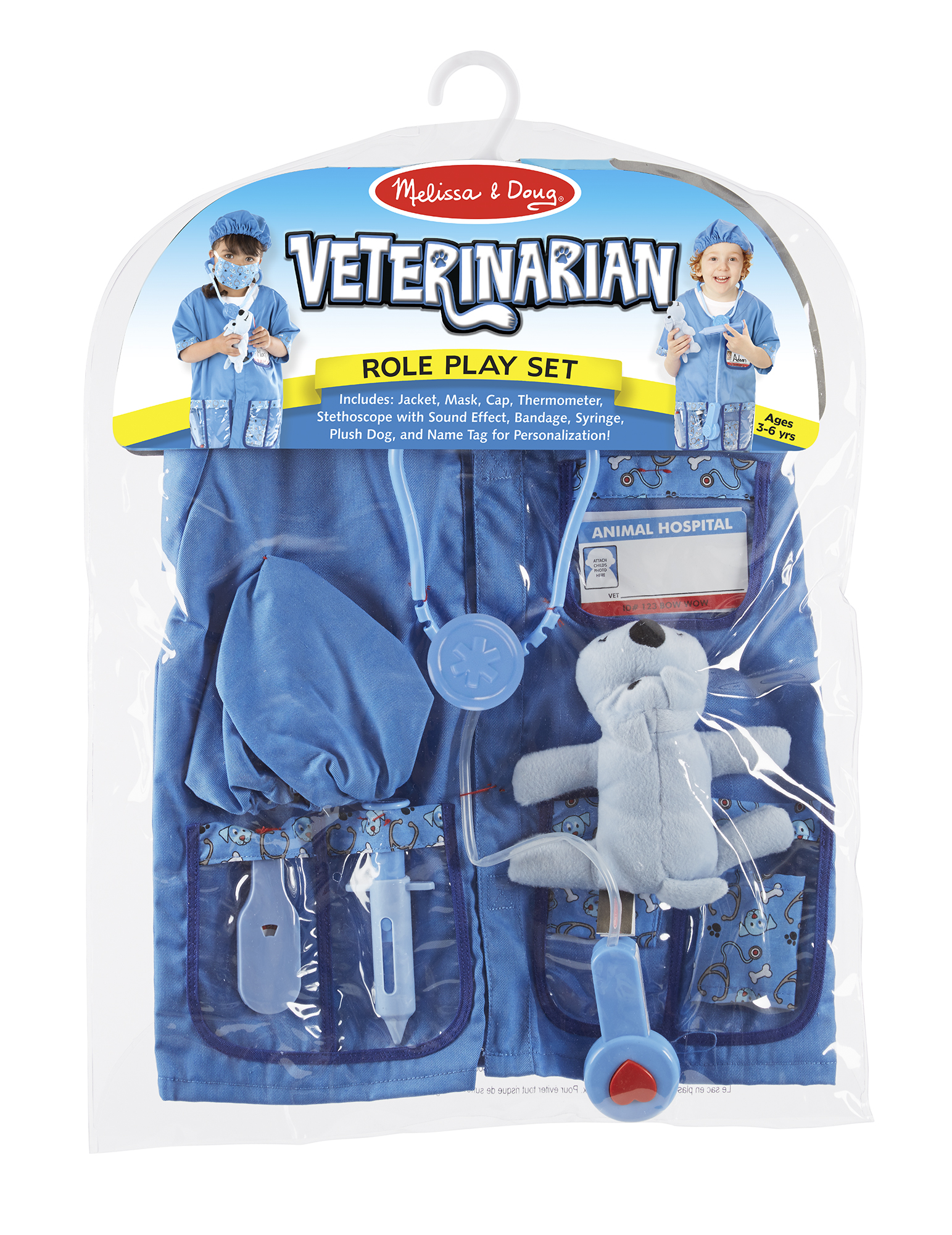 Melissa Doug Veterinarian Role Play Costume Set Ages 3 6 Years