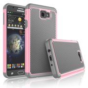 Samsung Galaxy J7 Sky Pro Case,Galaxy J7 Sky Pro Phone Case,Galaxy J7 2017 Case,Tekcoo [Tmajor] [Shockproof] Defender Phone Case Cover For Samsung Galaxy J7 Sky Pro All Carriers - Baby Pink
