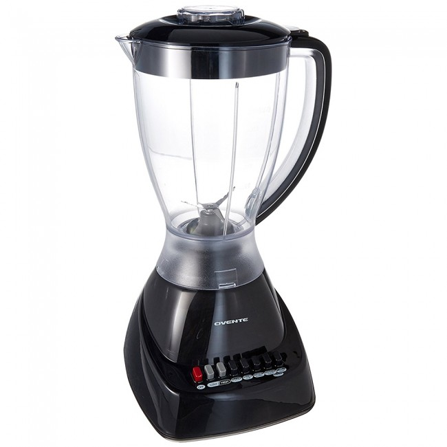 Ovente Electric Countertop Blender 1 5 Liter Stainless Steel Blades With 9 Blending Settings Removable Top Cap 400 Watts Power For Blend Stir Grind And More Black Blh1012b Walmart Com Walmart Com