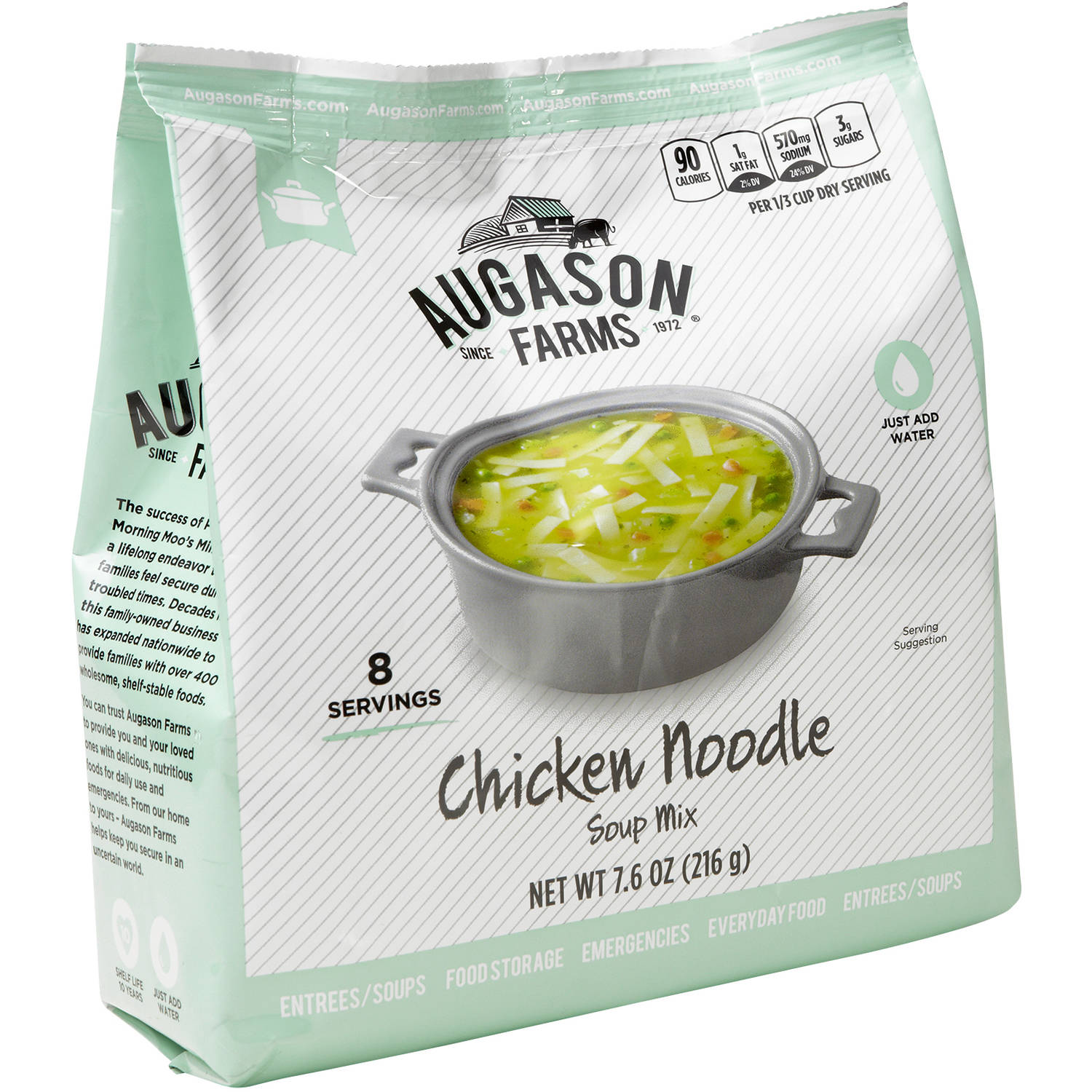Augason Farms Chicken Noodle Soup Mix, 7.6 oz