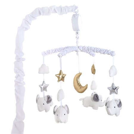 Ellie Twinkle Elephants Musical Crib Mobile By The Peanut Shell