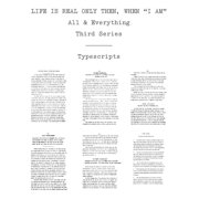 Life Is Real Only Then, When I Am : Typescripts