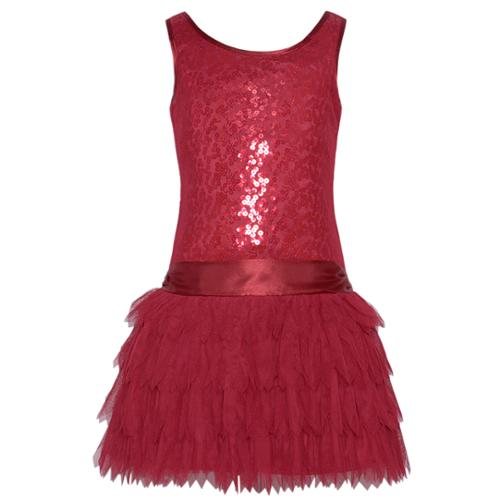 Biscotti red layer tutu sequin girls christmas dress 16 walmart com