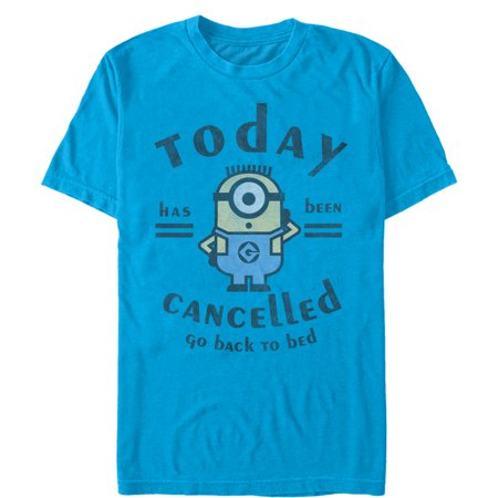 Despicable Me Men's Minion Today Cancelled T-Shirt](Minion Shirts Adults)