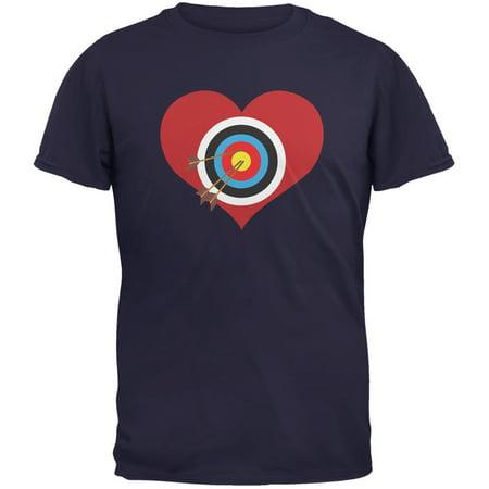 Cupid Target Navy Adult T-Shirt - Long Skirts Target