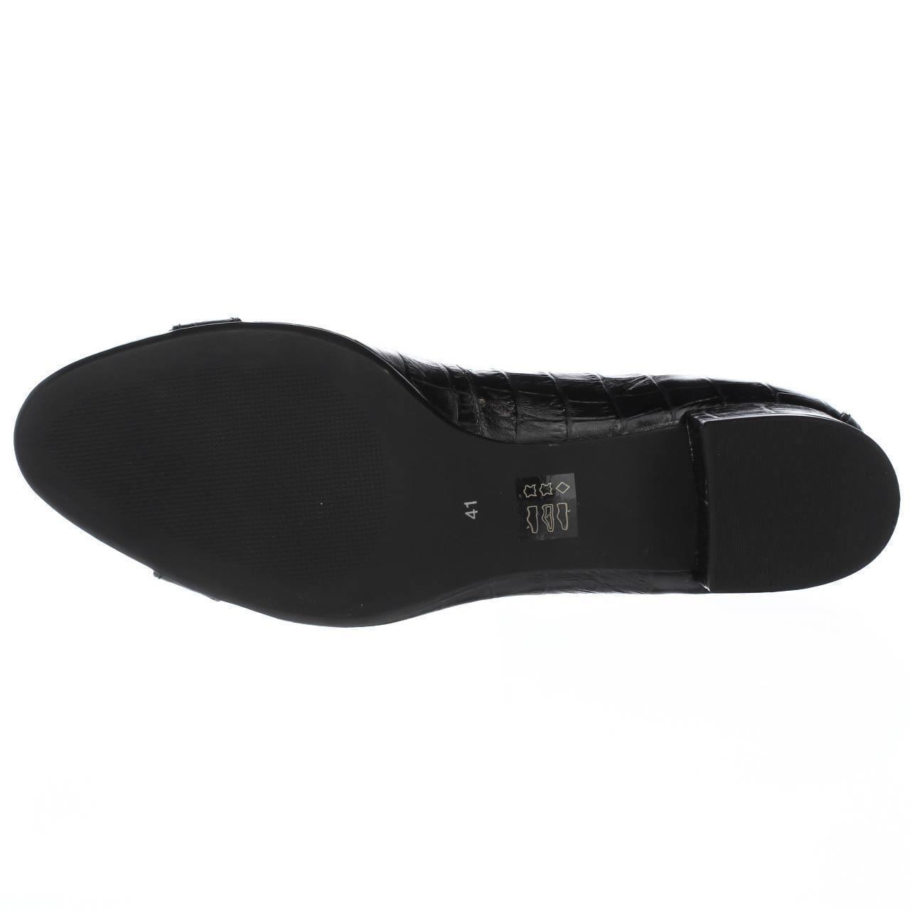 Womens Heel Marc Joseph Madison Pump Kitten Heel Womens Dress Pumps, Black Croco 748eec