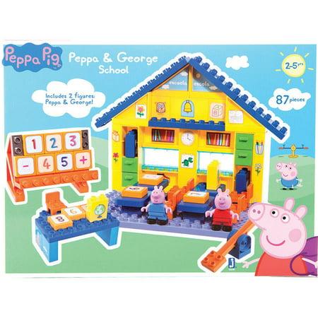 peppa pig school construction set instructions