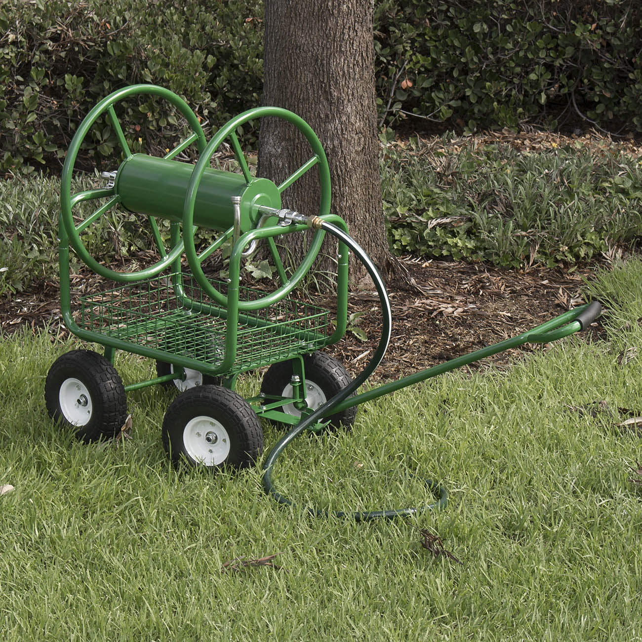 Arksen Water Hose Reel Cart 400 ft Capacity Garden Basket with Easy Turn Handle by ARKSEN
