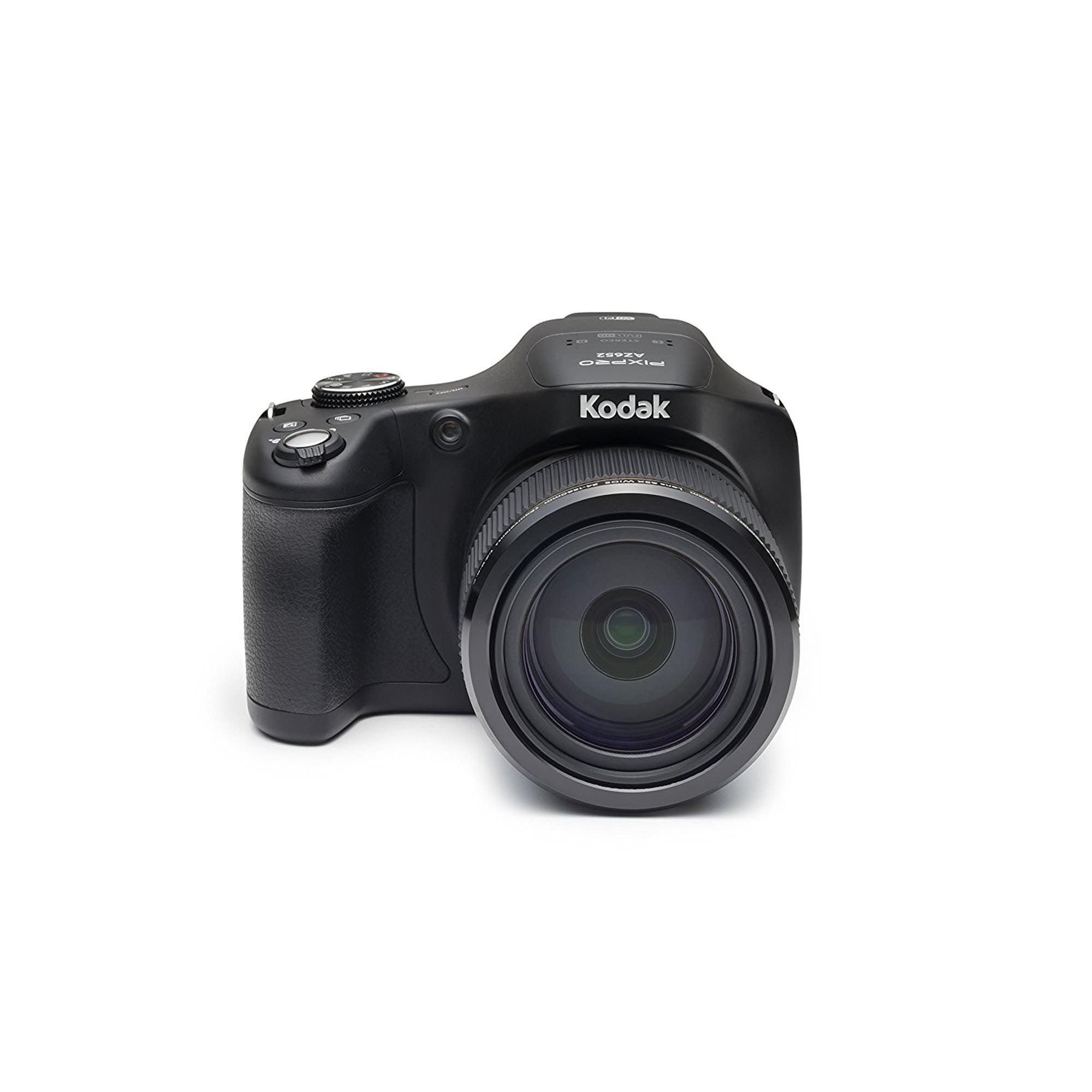 Kodak PIXPRO AZ652 Astro Zoom CMOS Bridge Digital Camera w EVF 20MP 65X FHD Wi-Fi (Black) by Kodak