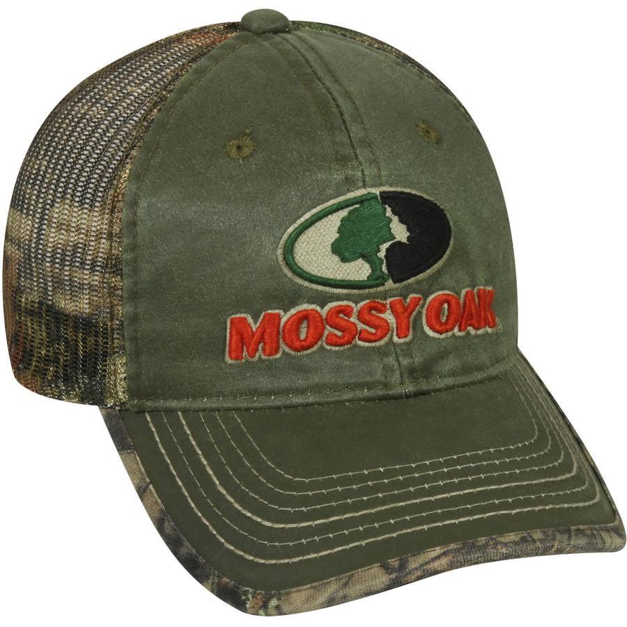Mossy Oak Mesh Back Camo Cap, Olive/Mossy Oak Break-Up Country Camo, Adjustable Closure