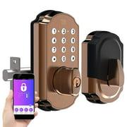 TURBOLOCK TL115 Smart Lock with Keypad Digital Deadbolt with App IP65 (Bronze)