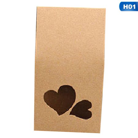 AkoaDa Kraft Paper Party\/Wedding Gift Bags,Cake\/Chocolates\/Candy Packing Bags Stand Up Food Clear Pvc Window Seal Boxes 8*16*5Cm Newest Pvc Window Accessories