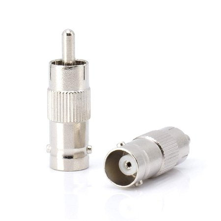 THE CIMPLE CO - RCA and BNC Coaxial Adapter | BNC Female to RCA Male Connector, Adapter, Coupler, and Converter | For RG11, RG6, RG59, RG58, SDI, HD SDI, CCTV - 10 Pack