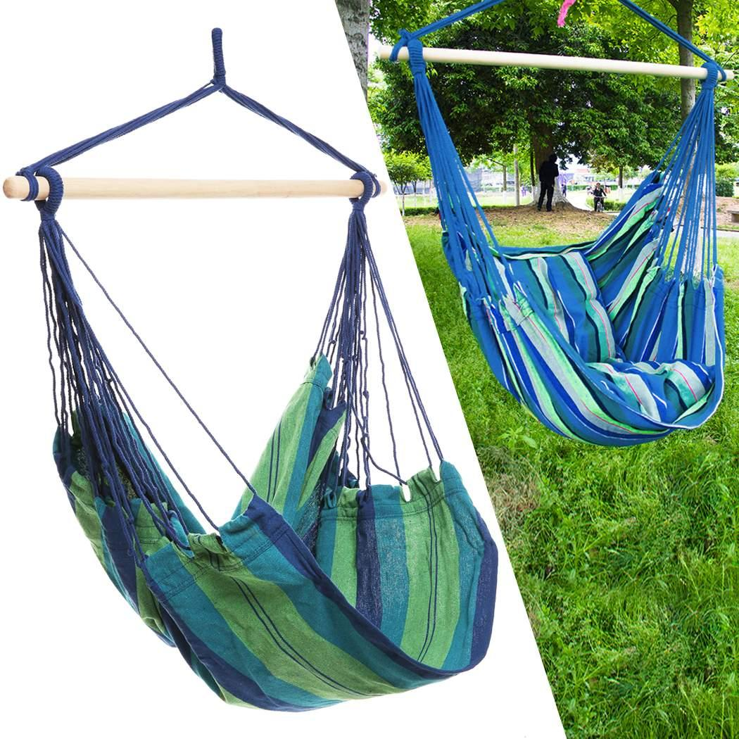 Confortable Durable Striped Hanging Chair Load Up To 120 Kg Multicolor For  Yard Bedr Sorbus Brazilian
