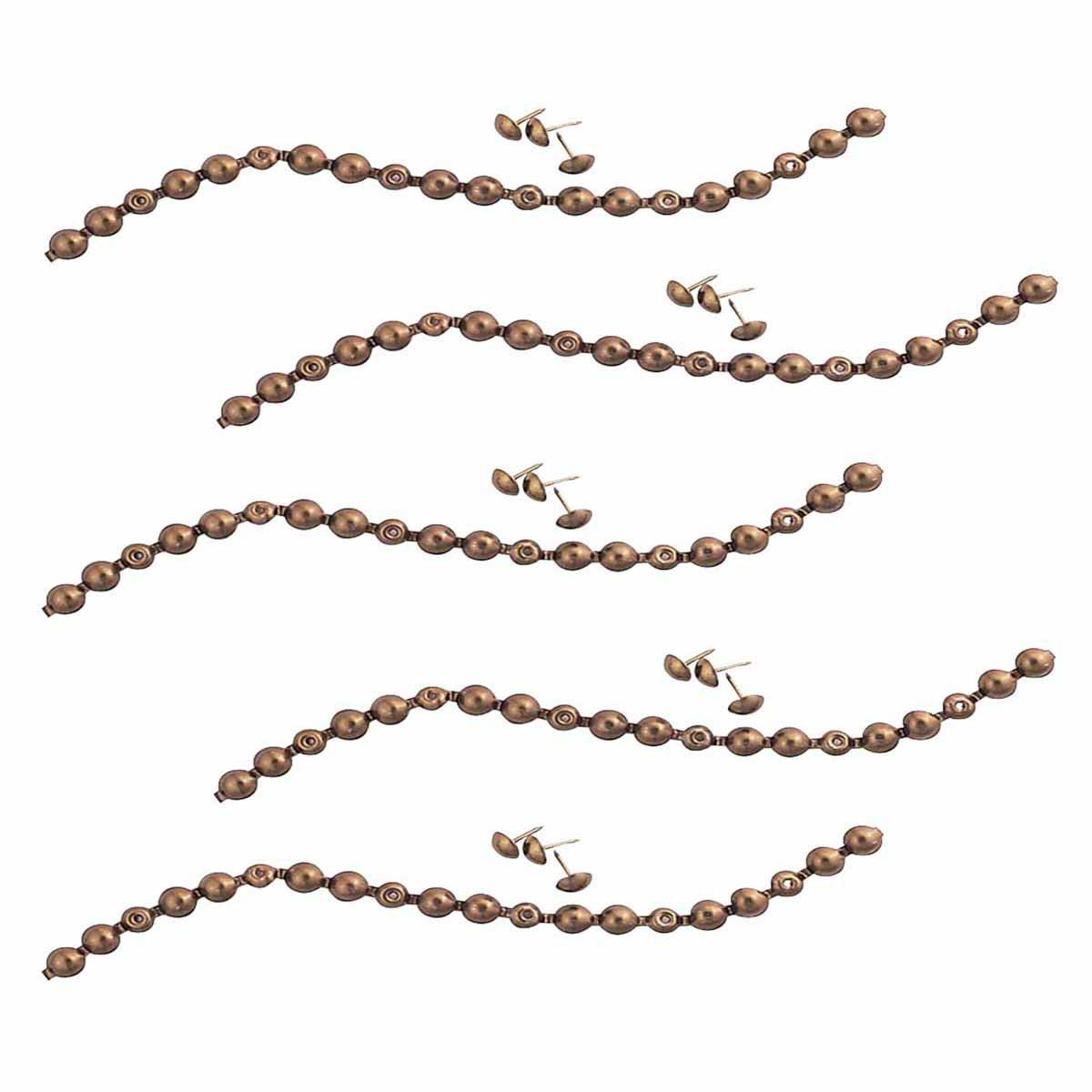 5 Leather Seat Tacking Strip Antique Brass | Renovator's Supply