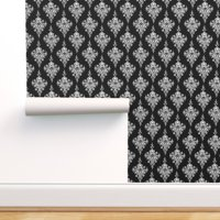 Peel-and-Stick Removable Wallpaper Skull Damask Floral Halloween Victorian