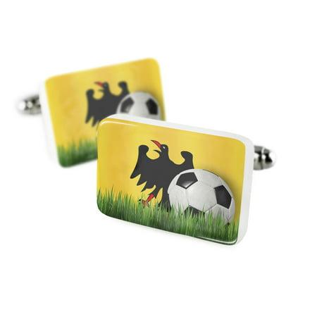 Cufflinks Soccer Team Flag The Holy Roman Empire  Until 1401  Porcelain Ceramic Neonblond