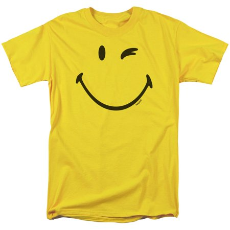 Trevco Smiley World/Big Wink Short Sleeve Adult T-Shirt 18/1 in