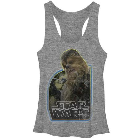 Chewbacca Tank Top (Star Wars The Force Awakens Women's Vintage Chewbacca Racerback Tank)
