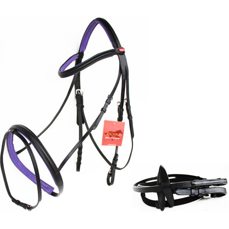 Horse English Padded Leather  PONY Riding Jumping Adjustable Bridle 803461P Pony English Pad