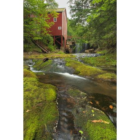 Balmoral Grist Mill In Balmoral Mills Nova Scotia Canvas Art   Darwin Wiggett  Design Pics  11 X 17