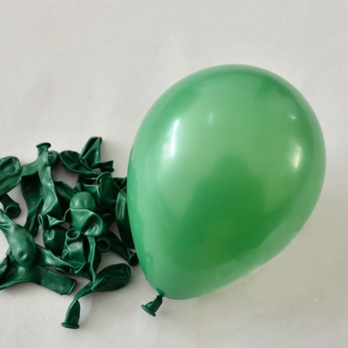 "50 pcs 12"" Dark Green Pearlised Balloons Party Decorations Birthday Anniversary"