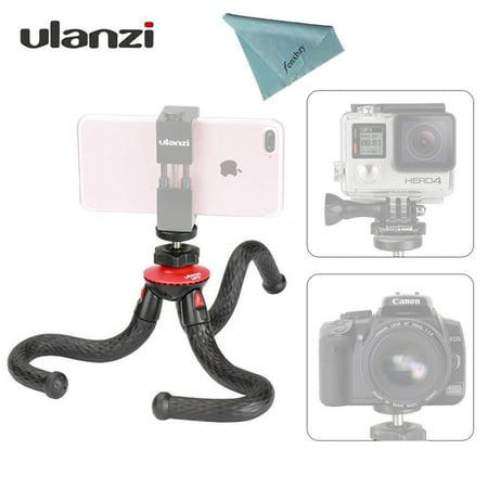 Ulanzi Mini Flexible Octopus Mobile Tripod with Phone Holder Adapter for iPhone X Smartphone DSLR Camera Nikon Canon Gopro (Best Mini Tripod For Dslr)