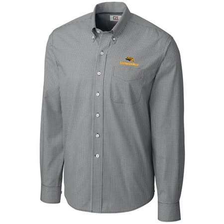 Southern Easy Care (Southern Miss Golden Eagles Cutter & Buck Epic Easy Care Gingham Big & Tall Long Sleeve Button-Down Shirt - Heather Charcoal )