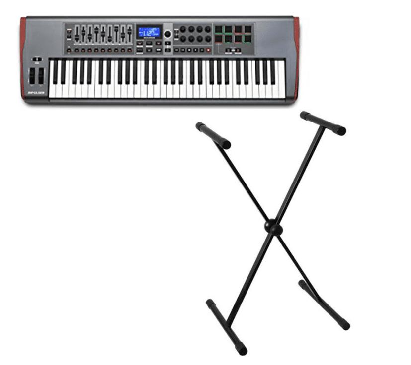 Novation Impulse 61 Refurbished USB Midi Controller Keyboard, 61 Keys With Stand. by Novation