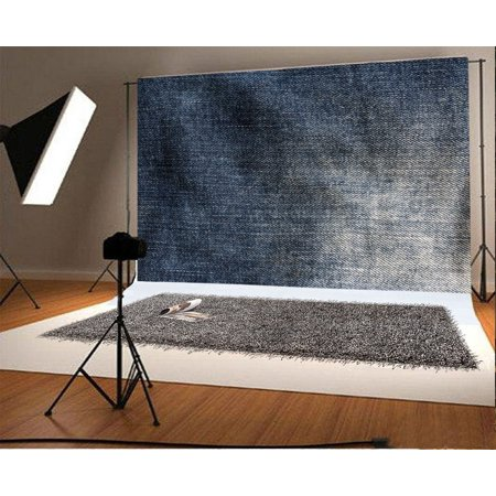 MOHome Polyster 7x5ft Photography Backdrop Grunge Shabby Chic Texture Jean Western Cowboy Style Wallpaper Photo Background Children Baby Adults Portraits Backdrop - Western Photography Ideas