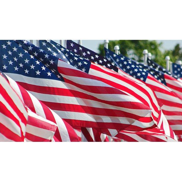 Stripes Flag American American Flag Symbol-11 Inch By 17