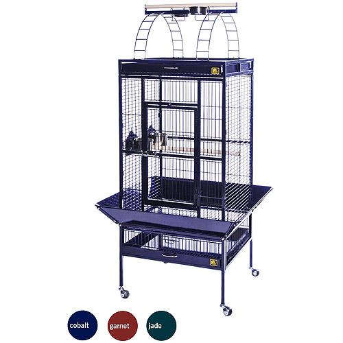 "Prevue Select Wrought Iron Parrot Bird Cage 24x20x60"", Cobalt Blue"