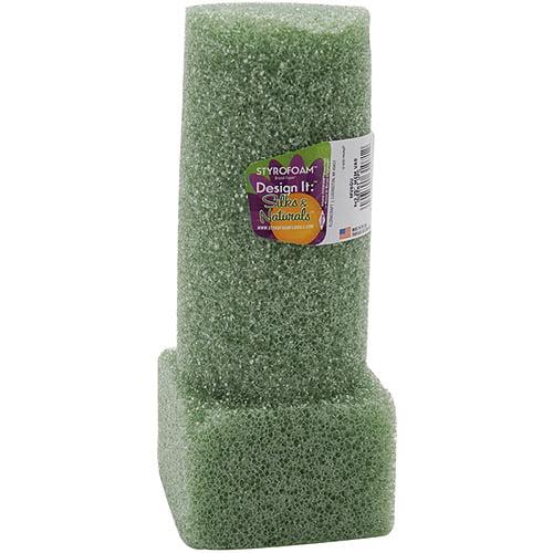 """Styrofoam Vase Insert, 8"""" x 3"""", 1pk, Green"""