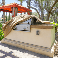 """Covered Living BBQ Island Grill Covers up to 124"""""""