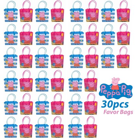 30pcs Peppa Pig Birthday Party Supply Favor Gift Bags Goodie Decoration