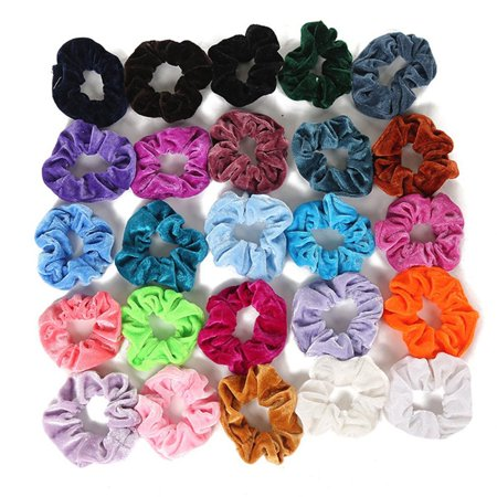 Fleece Hair Ring Multi-Color Optional Gold Velvet Hair Ring Hair Accessories Professional Fashion Portable - image 2 of 10