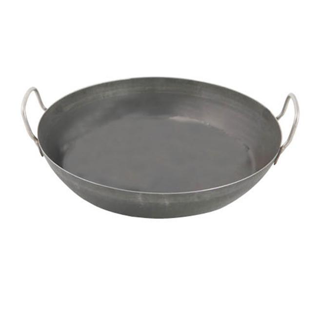 World Cuisine A4171745 Black Steel Paella Pan - 17. 75 Inches