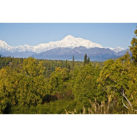 Southside View Of Mt Mckinley Autumn Southcentral Alaska Canvas Art   Jeff Schultz  Design Pics  17 X 11
