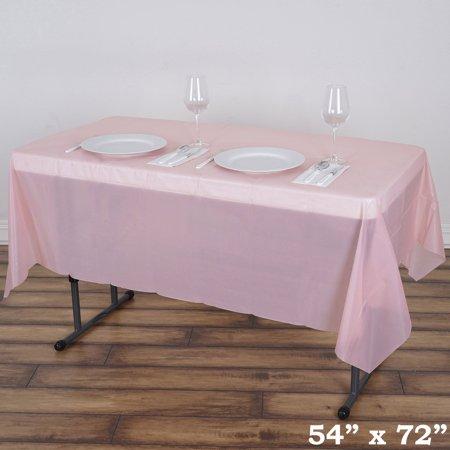 Balsacircle 54 X 72 Rectangular Disposable Plastic Tablecloth