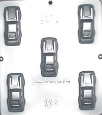 1305 Toy Cars Chocolate Candy Mold by