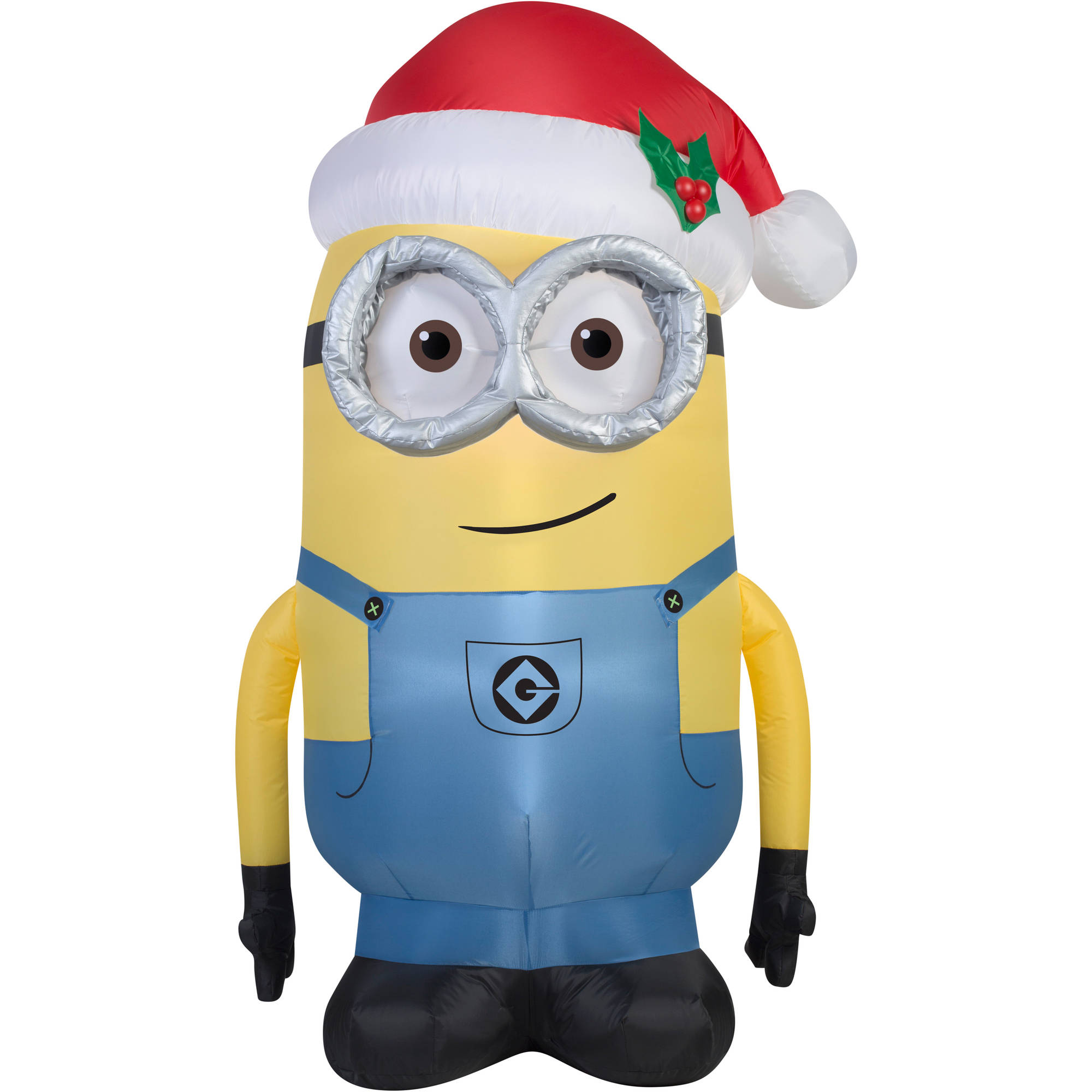 5' Airblown Inflatable Minion Dave with Santa Hat Universal Christmas Inflatable