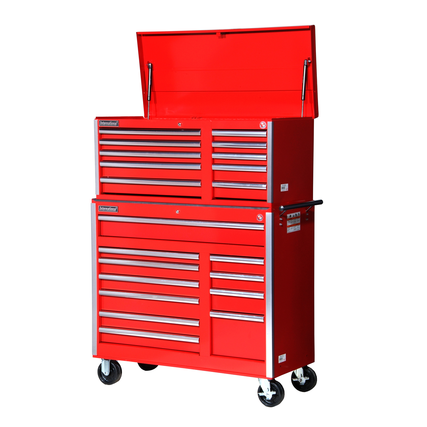 International 2-Piece Value Series 42-in Wide Combo Tool Chest Set