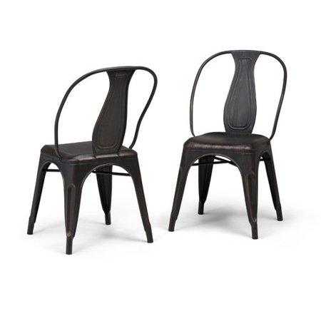 Agm Metal - Simpli Home Merritt Metal Dining Arm Chair (Set of 2)
