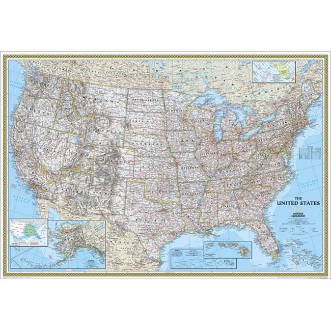 National Geographic RE00602987 United States Classic Map - Enlarged