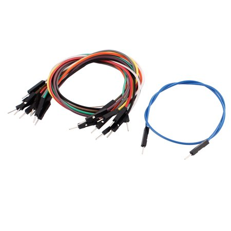 10PCS 2.54mm Pitch 1P Male Breadboard Double Head Jumper Wire Cable 30cm Length - image 2 of 2