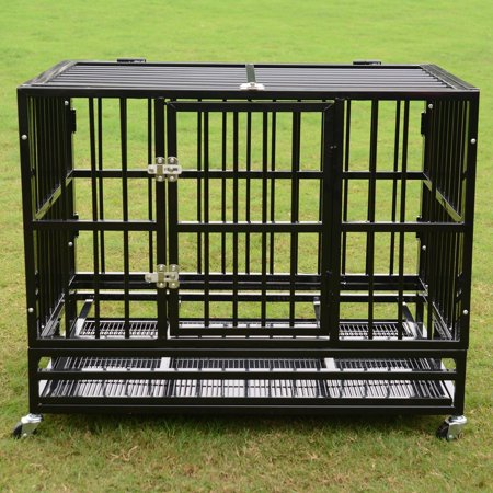 New Mtn G 37 Heavy Duty Rolling Dog Crate Kennel Pet Cag