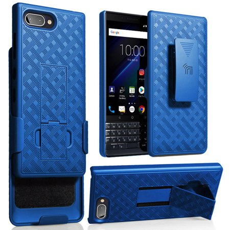 BlackBerry Key2 LE Case with Clip, Nakedcellphone Kickstand Cover with [Rotating/Ratchet] Belt Hip Holster Combo for BlackBerry Key2 LE Phone [[ONLY FOR LE MODEL]]