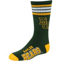 Baylor Bears For Bare Feet Youth 4-Stripe Deuce Crew Socks