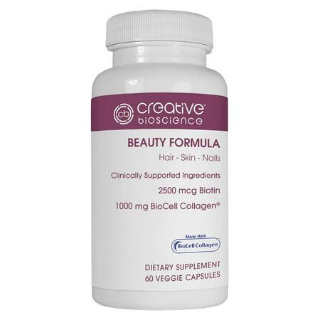 Creative Bioscience Beauty Formula Veggie Capsules  60 Count