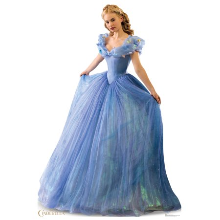Disney Movie Cinderella Ballgown Life Size Cutout Stand Large Cardboard Cutout Party Prop Decor Birthday party Supplies, Disney Birthday decoration Size: 70